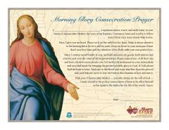 Morning Glory Consecration Certificate