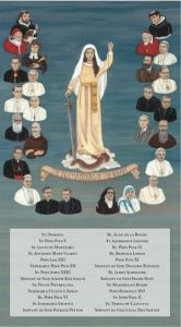 The 26 Champions of the Rosary with Names 10 x 18 Canvas, Gallery Wrap