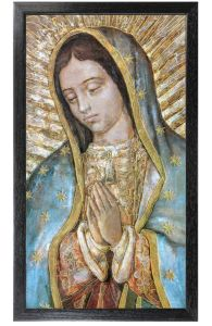 Close Up Guadalupe, 10x18 Canvas Print, Black Frame