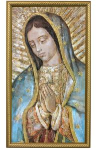 Close Up Guadalupe, 10x18 Canvas Print, Gold Frame