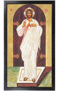 Eastern Icon 10 x 18 Canvas, Black Framed