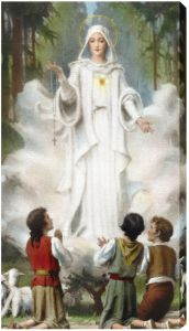 Our Lady of Fatima 10 x 18 Canvas, Gallery Wrap