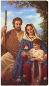 Holy Family 10 x 18 Canvas Print