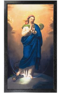 Immaculate Conception, 10x18, Canvas Print, Black Frame