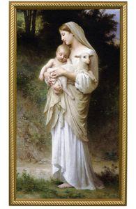 L'Innocence Canvas Print, Gold Frame 10x18