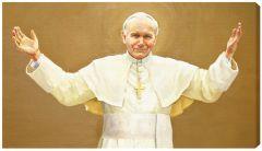 St John Paul II 18 x 10 Canvas Print