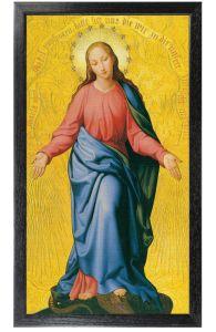 Mary Immakulata 10 x 18 Canvas, Black Framed
