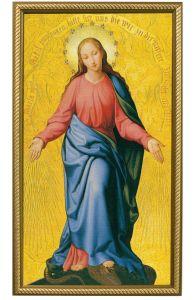 Mary Immakulata 10 x 18 Canvas, Gold Framed