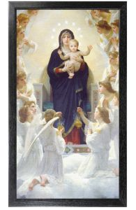 Queen of The Angels, Canvas Print, 10 x 18 Black Frame