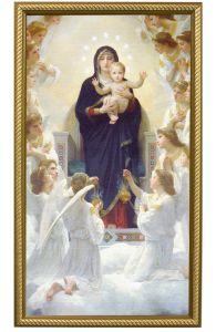 Queen of The Angels, Canvas Print, Gold Frame, 10x18
