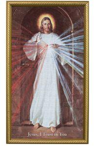 Skemp Divine Mercy, 10X18, Canvas, Gold Frame