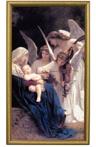Song of Angels, 10x18 Canvas Print, Gold Frame