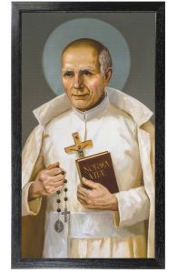 Saint Stanislaus Papczynski 10 x 18 Canvas, Black Framed