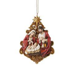 Holy Family Ornament with Filigree Tree