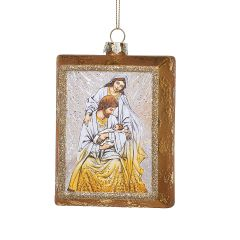 Gold Holy Family Glass Ornament
