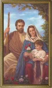 10 x 18 Gold Framed Holy Family Canvas Print
