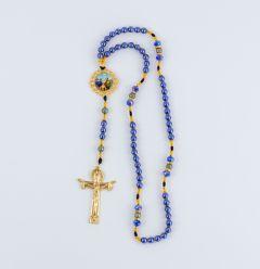 Rosario con imagen de la Sagrada Familia y la Divina Misericordia