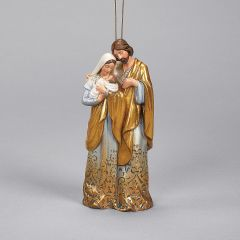 Holy Family Gold Ombre Ornament