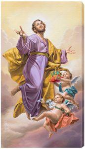 St. Joseph Assumed into Heaven Canvas Print