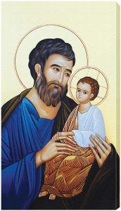 St. Joseph and the Child Jesus 10 x 18 Canvas Print