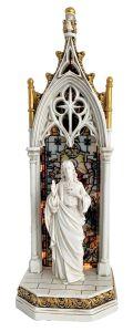 Estatua estilo lampará del Sagrado Corazón de Jesús