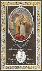 Terror of Demons Medal and Prayer Card