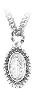 Medalla con la imagen de la Virgen Milagrosa