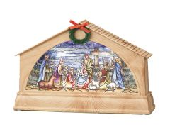 LED Swirl Stained Glass Nativity