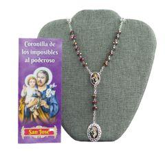 Rosario y folleto de como rezar la Coronilla a San José