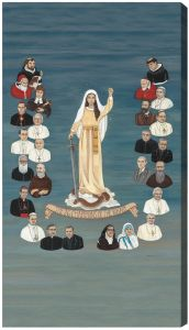 The 26 Champions of the Rosary 10 x 18 Canvas, Gallery Wrap