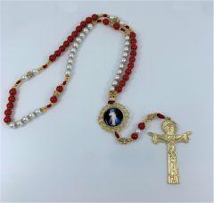 Rosario con la imagen de la Divina Misericordia y Santa Faustina