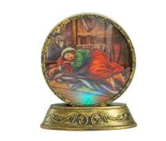 Lámpara con la imagen de San José Dormido