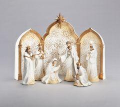 9-Piece Nativity with Triptych