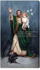 St. Joseph, Terror of Demons 10 x 18 Canvas Print (Watercolor)