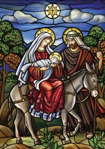 Stained Glass Holy Family Boxed Christmas Cards